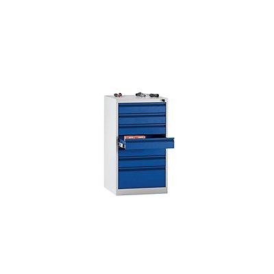 QUIPO Schubladenschrank, Stahl - HxBxT 900 x 500 x 500 mm, 7 Schubladen