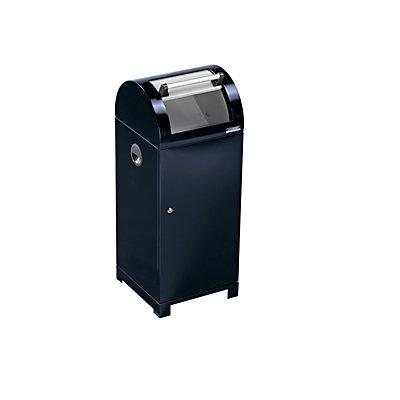 EUROKRAFT System-Wertstoffsammler 70 l - mit Innenbehälter, handbetätigt, Tiefe 450 mm, schwarz / grau