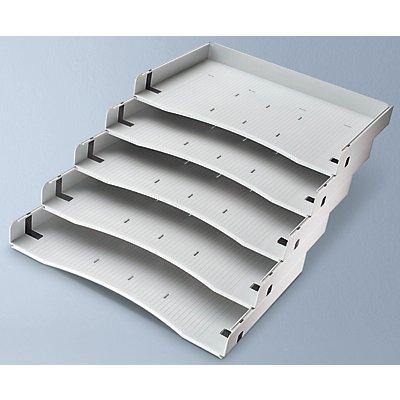 Schrägablagen-Set - 5 Stück für DIN A4 - lichtgrau