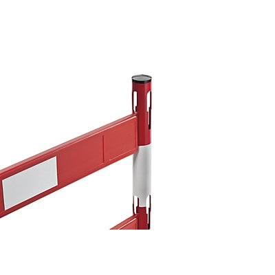 VISO Absperrpfosten-Anbauset - mit 1 Pfosten, 2 Planken