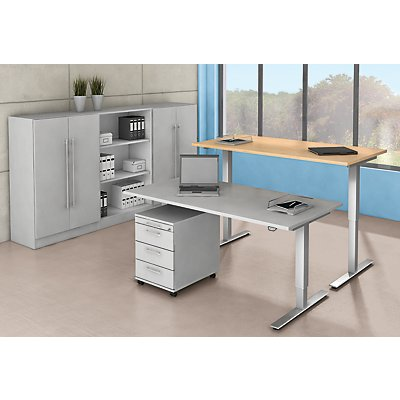 office akktiv Rollcontainer - 1 Utensilienschub, 1 Materialschub, 1 Hängeregistratur, Tiefe 580 mm