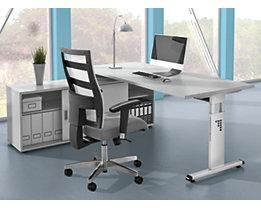 FINO Sideboard - HxB 600 x 1600 mm, mit Fachboden und Trennwand