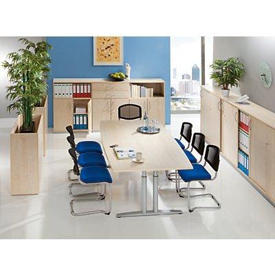 fm büromöbel THEA Besprechungstisch - mit T-Fußgestell, Länge 1800 mm