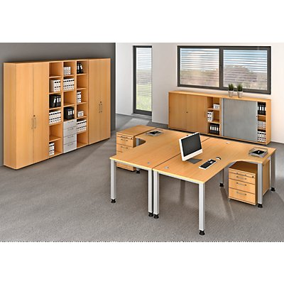 office akktiv RENATUS Regal - HxB 2154 x 400 mm, 5 Fachböden