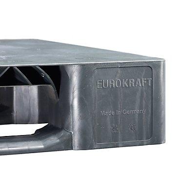 EUROKRAFT Kunststoff-Kufenpalette - LxBxH 1200 x 1000 x 150 mm