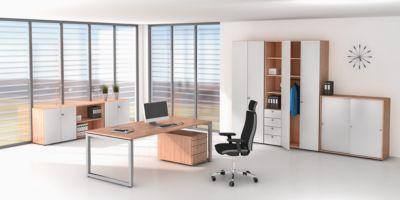 office akktiv ANNY Schreibtisch-Arbeitsplatz – mit Vierkant-Stahlrohr,