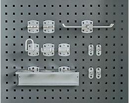 11-teiliges Haken-Set - kunststoffbeschichtet - für gelochte Rückwand