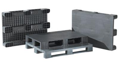 EUROKRAFT Kufenpalette aus Kunststoff - Traglast dynamisch 2500 kg, LxB 1200 x 1000 mm