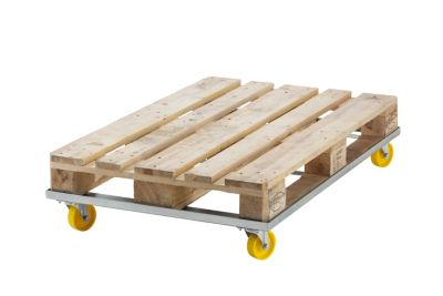 Paletten-Fahrgestell SLIMLINE - Stahl, Tragfähigkeit 500 kg, ab 5 Stk