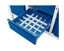 Schubladeneinteilungs-Set - 4 Längs- und 4 Querteiler, für Werkbänke