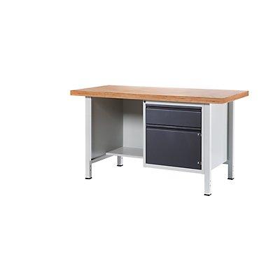 RAU Werkbank - 1 Schublade, 1 Tür, 1 offenes Fach, Plattenbreite 1500 mm