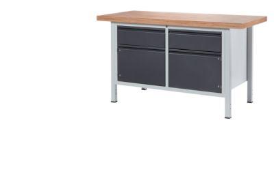 RAU Werkbank - 2 Schubladen, 2 Türen, Plattenbreite 1500 mm