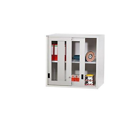 Lista Aufsatzschrank mit Schiebetüren - Türen mit Sichtfenster