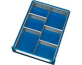 RAU Schubladeneinteilungs-Set - 1 Trennwand, 4 Querteiler, für Höhe 120 - 180 mm