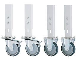 Fahrsatz - für Untergestell 60 x 30 mm, 2 Bockrollen