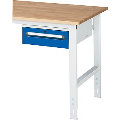 rau unterbau container h he 175 mm 1 schublade lichtgrau enzianblau. Black Bedroom Furniture Sets. Home Design Ideas