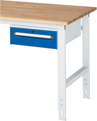 Unterbau-Container - Höhe 175 mm, 1 Schublade, lichtgrau / enzianblau