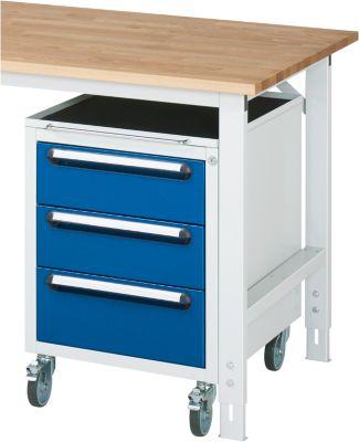 Roll-Container - HxBxT 690 x 490 x 600 mm, 3 Schubladen