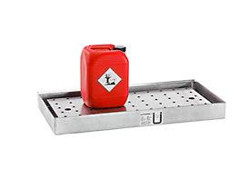 Lochblechabdeckung für Wannenboden - für Schrank mit ausziehbarem Wannenboden - für BxT 1200 x 500 mm