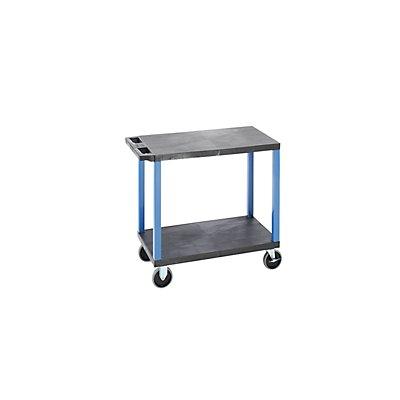 Mehrzweckwagen MULTI - LxBxH 895 x 460 x 865 mm, 2 Etagen, schwarz / blau