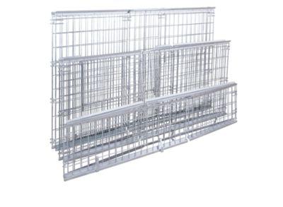 Gitter-Aufsatzrahmen für EUR-Tauschpalette - mit Klappe an 1 Längswand, Nutzhöhe 1160 mm