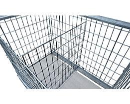 Trennwand - für Gitter-Aufsatzrahmen, zum Einhängen