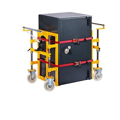 QUIPO Twinlifter, Tragfähigkeit 2800 kg - HxB 1000 x 650 mm, melonengelb