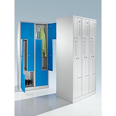 QUIPO Z-Schrank - Breite 870 mm, 6 Abteile, 6 Türen