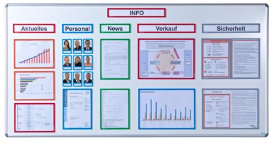 office akktiv Magnetische Infotasche - für Überschriften, DIN A4 hoch / DIN A5 quer, 225 x 60 mm