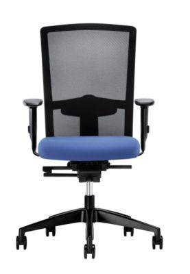 interstuhl Operator-Drehstuhl EVERY, Chillback-Rückenlehne weiß - Gestell weiß, mit weichen Rollen