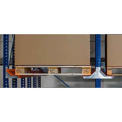Einfahrregal - Regaltiefe 1740 mm, 2 Paletten tief