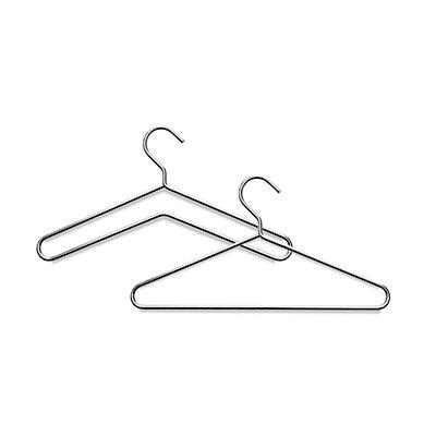Kleiderbügel - Rundstahl, verchromt