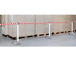 Gurtabsperrpfosten, VE 2 Stk - für innen und außen, Bandauszug 3700 mm, 4-Wege-System