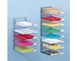 Stahldraht-Korb-Sortierablage - Wandmodell, einreihig