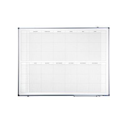 Smit Visual Jahresplaner - BxH 1200 x 900 mm, Version EN, mit 365-Tage-Einteilung