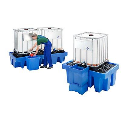Romold PE-Auffangwanne für Tankcontainer IBC/KTC - mit PE-Gitterrost