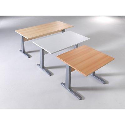 Wellemöbel BASIC-II Schreibtisch mit C-Fuß-Gestell - BxT 1600 x 800 mm