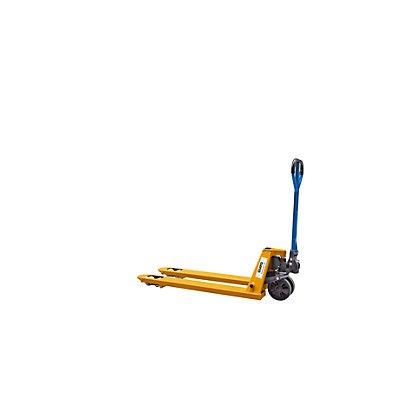 QUIPO Paletthubwagen, gelb - Lenkräder Vollgummi - Lastrollen Polyurethan