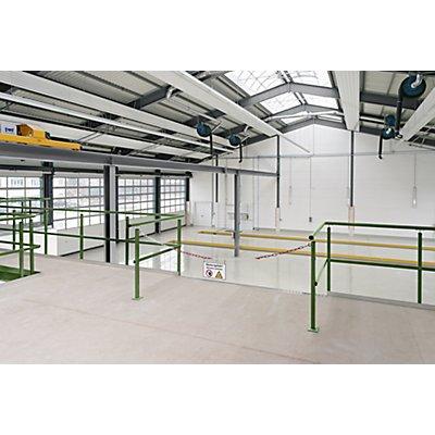 Geländer zur Lagerbühne - Höhe 1000 mm - mit Handlauf und Knieleiste, pro lfd. m