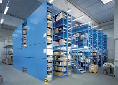 Lista Basis-Steckregal - Regalhöhe 2500 mm, Boden-BxT 1000 x 600 mm