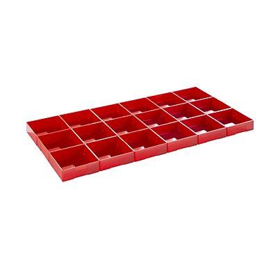 Lista Einteilungsmaterial - Polystyrol-Einsatzkästen, rot