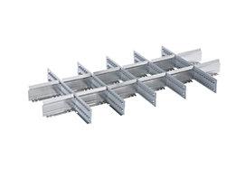 Lista Einteilungsmaterial - Stahlblech-Trennwände, grau, für Schubladen-Fronthöhe 75 mm