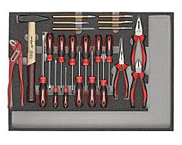 Carolus Werkzeugset - Schraubendreher, Zangen, Hammer, Meißel, Gewicht 1,08 kg