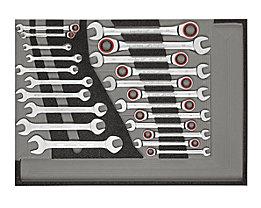 Carolus Werkzeugset - Maul-Ringratschenschlüssel, Doppelmaulschlüssel, Gewicht 26 kg
