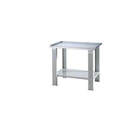 QUIPO Schwerlast-Werktisch - mit Stahlblech-Arbeitsplatte