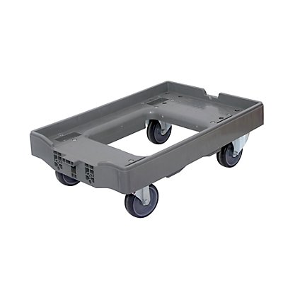 Transportroller, Tragfähigkeit 300 kg - Mit je 2 Lenk- und 2 Bockrollen, VE 2 Stk, ohne Deichsel
