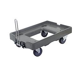 Transportroller, Tragfähigkeit 300 kg - Mit je 2 Lenk- und 2 Bockrollen, VE 2 Stk, mit Deichsel