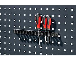 Werkzeugklemmhalter - mit Kunststofflaschen, Breite 150 mm