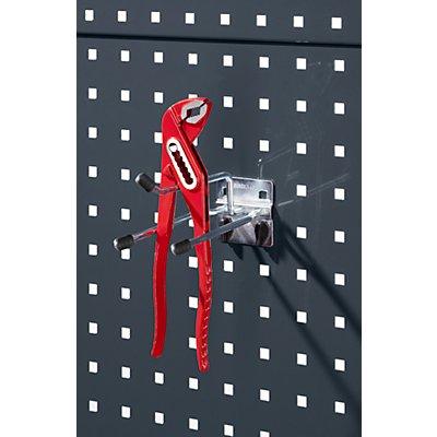 Zangenhalter - zur Montage an Lochplatten, Tiefe 150 mm