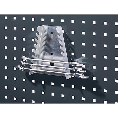 Schraubenschlüsselhalter - BxTxH 75 – 145 x 40 x 180 mm, mit 8 Aufnahmen